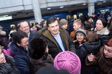 В харьковском метро засекли Саакашвили