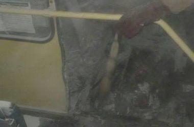 В Киеве загорелась пригородная маршрутка