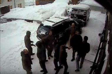 Полиция обнародовала видео драки в Драгобрате