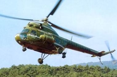 В Кременчуге упал вертолет Ми-2