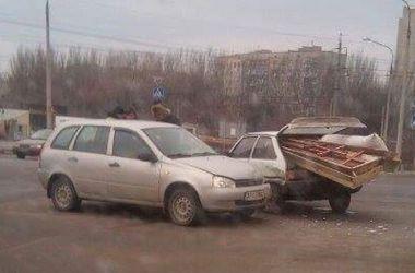 В Запорожье в ДТП попал гроб