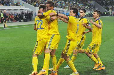 Сборная Украины поднялась на две позиции в рейтинге ФИФА