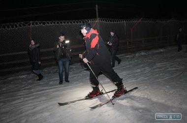 Саакашвили встал на лыжи в Березовке