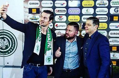 """Милевский уже делает """"селфи"""" с президентом своего нового клуба """"Конкордии"""""""