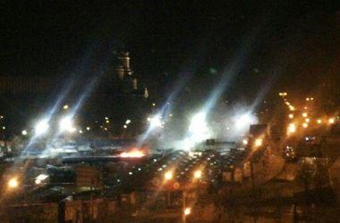 В Донецке горит центральный рынок