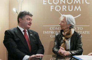 Порошенко поздравил главу МВФ Лагард со вторым сроком