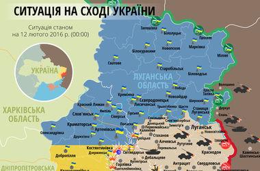 """Самые """"горячие"""" точки Донбасса 12 февраля: интерактивная карта боев и обстрелов"""