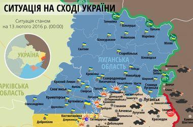 """Самые """"горячие"""" точки Донбасса 13 февраля: интерактивная карта боев и обстрелов"""