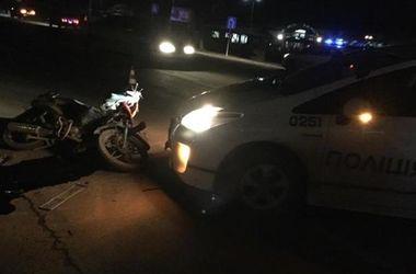 В Мукачево полиция сбила мотоциклиста