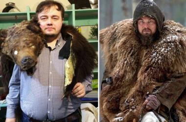 Российский двойник ДиКаприо повторил известные сцены из фильмов с актером