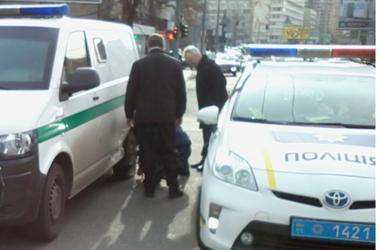 В Киеве произошло ДТП при участии инкассаторской машины