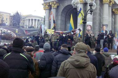 """Как на Майдане проходит вече активистов, которые заявили о создании """"гражданского правительства"""""""