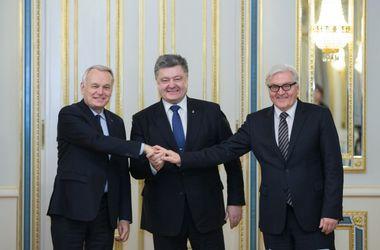 Порошенко встретился с министрами иностранных дел Франции и Германии