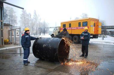 На газохранилище Червонопартизанское произошла утечка газа