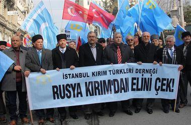 В Стамбуле прошла акция против аннексии Крыма Россией