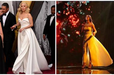 """Леди Гага пришла на вечеринку """"Оскара"""" в наряде, как у Джамалы"""
