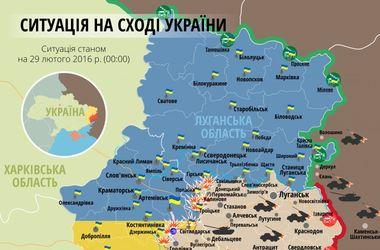 """Самые """"горячие"""" точки Донбасса 29 февраля: интерактивная карта боев и обстрелов"""