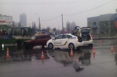 В сети появилось видео ДТП с участием харьковских патрульных