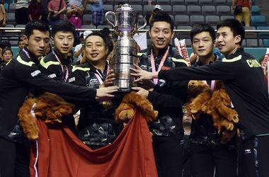 Cборная Китая выиграла командый чемпионат мира по настольному теннису