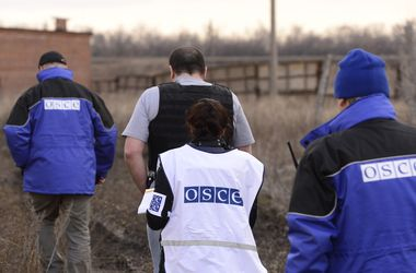 The OSCE suspended work in the Village Lugansk