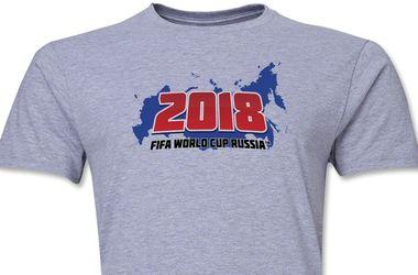 ФИФА изымет из продажи сувенирные футболки к ЧМ-2018 с изображением карты России без Крыма