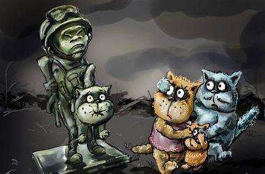 """Оккупанты открыли памятник """"народному ополчению"""" в Симферополе - Цензор.НЕТ 7741"""