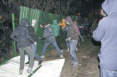 Киевляне бунтуют против стройки на озере