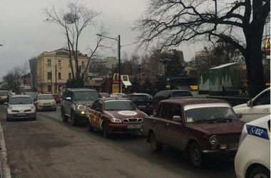 В Харькове копы попали в тройное ДТП