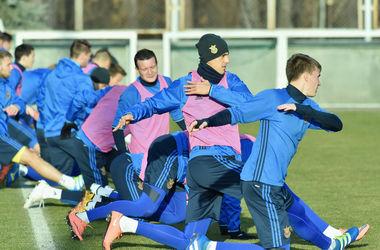 Сборная Украины провела открытую тренировку перед матчем с Уэльсом