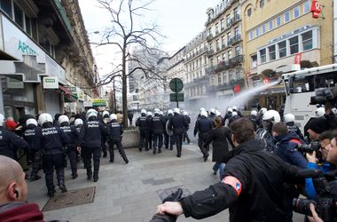 В центре Брюсселя произошли беспорядки