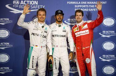 Льюис Хэмилтон победил в квалификации Гран-при Бахрейна