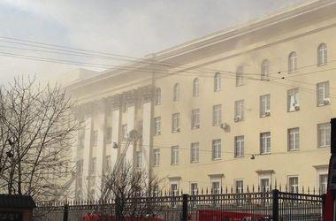 В сети появилось видео масштабного пожара Минобороны в Москве