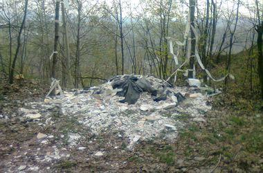 В Киеве возле леса устроили неожиданную свалку