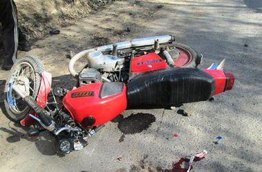 Под Киевом мотоциклист попал в жуткую аварию
