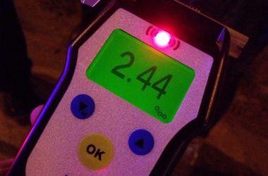 В Киеве пьяный водитель устроил гонки с полицией