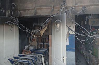 В Киеве горел супермаркет