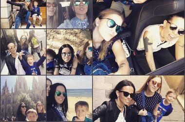 Весенние каникулы звезд: жена Потапа прокатилась на экстремальных горках, а Полякова загорает на Крите (фото)