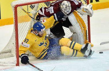 Сборная Швеции обыграла Латвию на чемпионате мира по хоккею