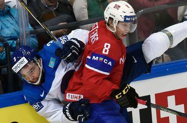 Сборная Норвегии обыграла Казахстан на чемпионате мира по хоккею
