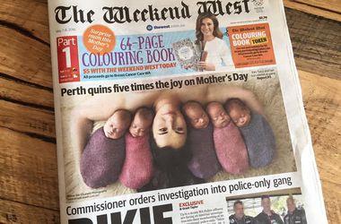 Милое фото новорожденных пятерняшек покорило Facebook (фото)