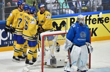 Сборная Швеции обыграла Казахстан на чемпионате мира по хоккею