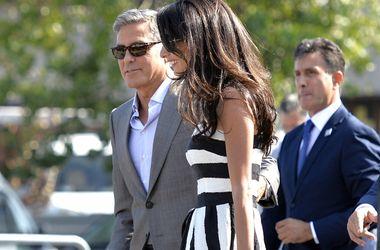 <p>Джордж Клуни с женой Фото: AFP</p>