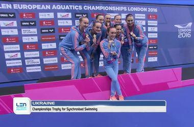 Украинские синхронистки стали чемпионками Европы