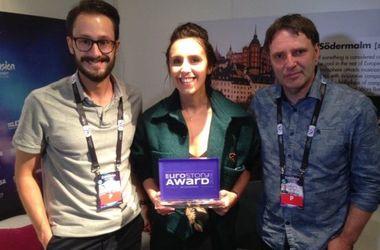 """Джамала на """"Евровидении"""" получила награду за лучшую строку в  песне (видео)"""