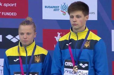 Украинцы Юлия Прокопчук и Максим Долгов стали чемпионами Европы в прыжках в воду