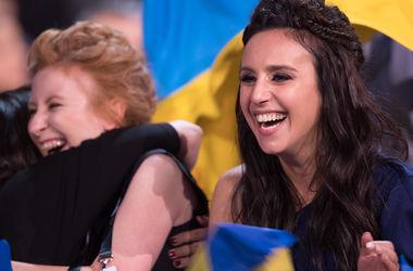 """Триумф Украины: как Джамала радовалась победе на """"Евровидении"""" (фото, видео)"""