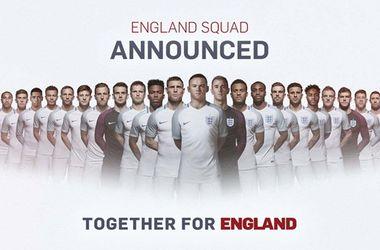 Сборная Англии назвала предварительный состав на Евро-2016