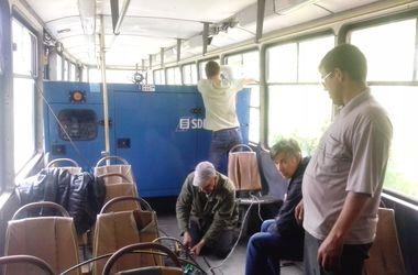 В Авдеевке трамвай заставили работать необычным способом