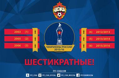 Московский ЦСКА в шестой раз стал чемпионом России