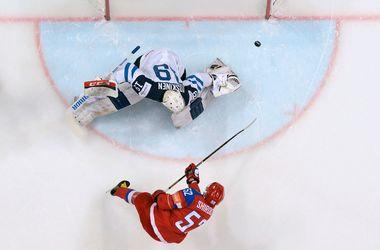 Яркие кадры матча Финляндия - Россия (3:1) в полуфинале чемпионата мира